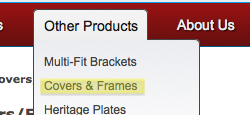 How to order number plate covers and frames.