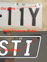 Old and New NSW Premium style number plates.