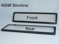 NSW Front Slimline (372mm x 84mm) and NSW Rear Slimline (372mm x 107mm) Kingpin number plate covers.