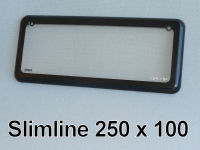 Slimline 3 & 4 character (250mm x 100mm) Kingpin number plate cover.