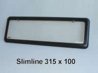 Slimline 5 character (315mm x 100mm) Kingpin number plate cover.